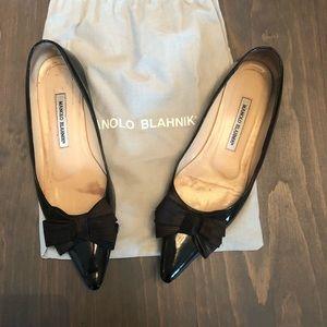 Manolo Blahnik Pointy Toe Flats